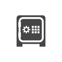 Safe money icon, Safe vector icon
