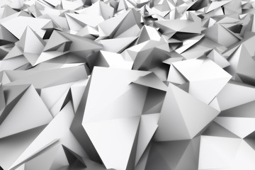 3D rendering of abstract polygonal background