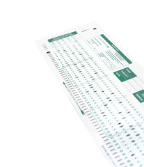 Exam test on a white background.