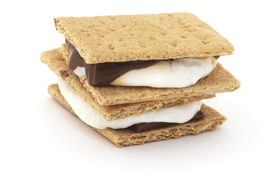 Isolated Smores bar.