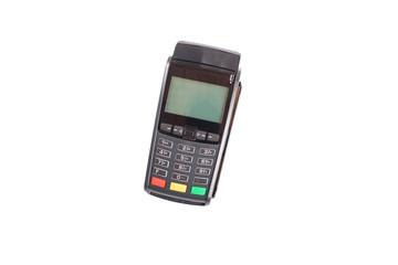 Card machine pos terminal isolated on white