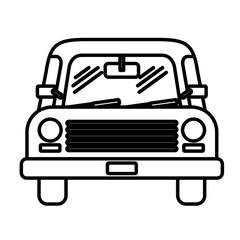 car front  isolated icon design, vector illustration  graphic