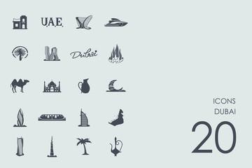 Set of Dubai icons