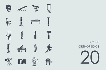 Set of orthopedics icons