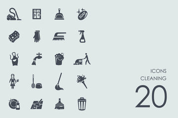 Set of cleaning icons