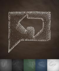 feedback icon. Hand drawn vector illustration