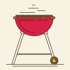 Barbecue. Flat style design - vector
