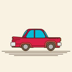 Vintage flat vector car