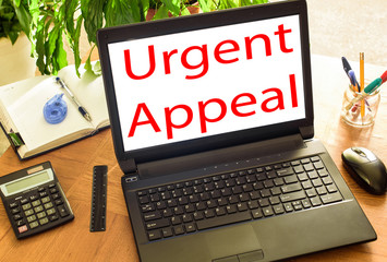 Urgent Appeal. Concept office