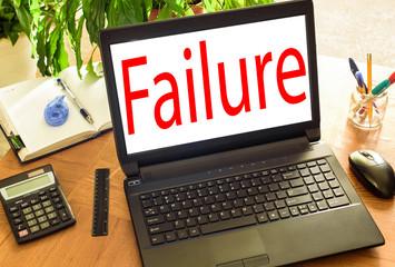 Failure. Concept office