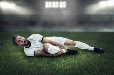 Verletzter Fußballspieler