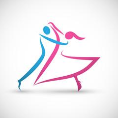 taniec logo wektor