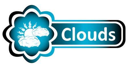 Double icon blue sun clouds