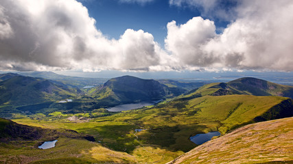 Snowdonia lakes and mountains