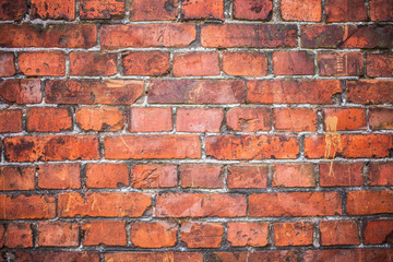 old stained brown brick wall background