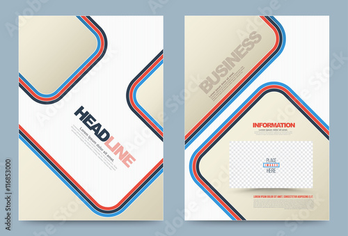 business annual report brochure flyer design template vector, Presentation Abstract Template, Presentation templates
