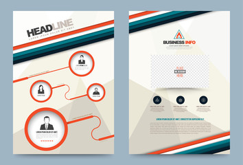 Annual report brochure flyer design template vector circle and strips style, Leaflet cover presentation abstract technology background, layout in A4 size. Vector illustration.