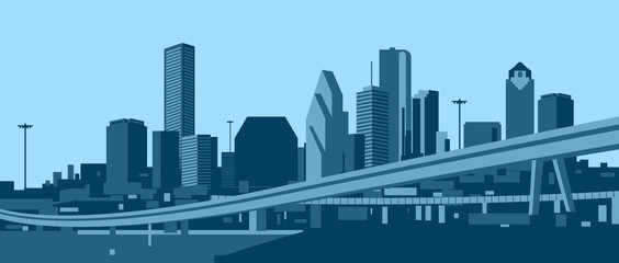 Wall Mural - Houston skyline