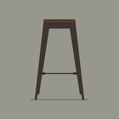 Industrial style steel stool