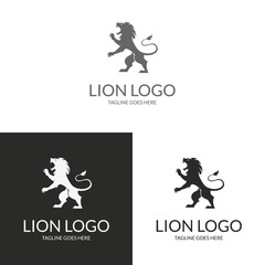 Lion Logo. Logo template suitable for businesses and product names. Easy to edit, change size, color and text.
