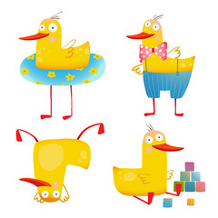 Child Duck Funny Colorful Toy Set