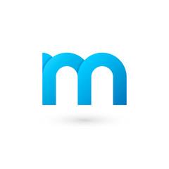 Logo M letter. Isolated on white background. Vector illustration, eps 10.