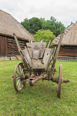 Old antique grunge history rustic wagon, old country traditional