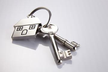 House shaped keychain