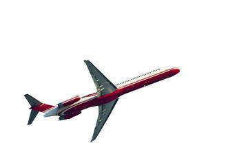 isolated passenger airplane
