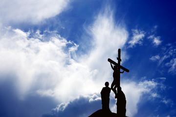 Silhouette of Jesus Christ crucifixion