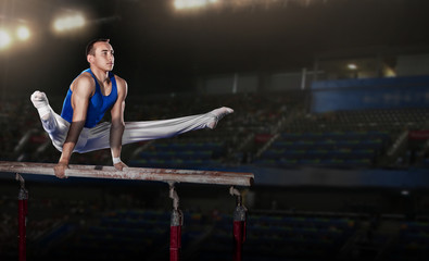 portrait of young man gymnasts