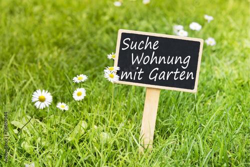 Tafel suche wohnung mit garten immagini e fotografie for Suche wohnung in