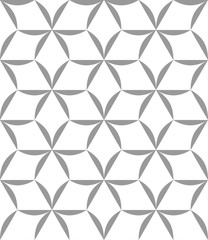 Vector seamless texture. Modern abstract background. Monochrome pattern with repeating hexagonal tiles.