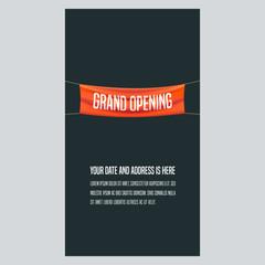 Grand opening vertical vector illustration, background