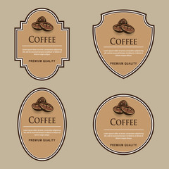 Set of labels. Coffee theme.