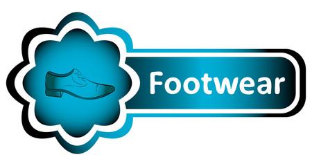 Double icon blue man footwear