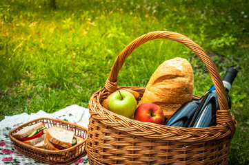 Picnic scene in the park