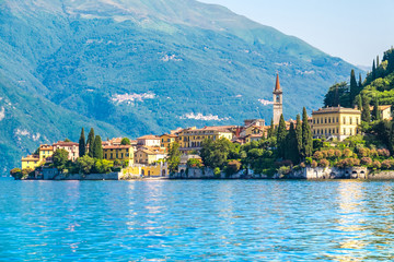 Varenna the famous town in lake como, Italy