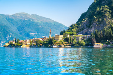 Varenna the one of town in lake como, Italy