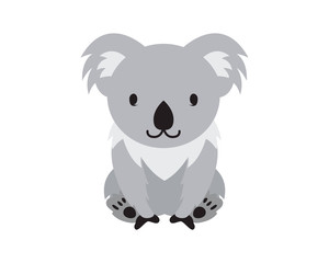 Flat Animal Character Logo - Koala