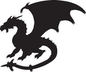 Black dragon silhouette