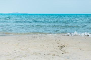 sea landscape in a summer day  in northwest coast of Sardinia,