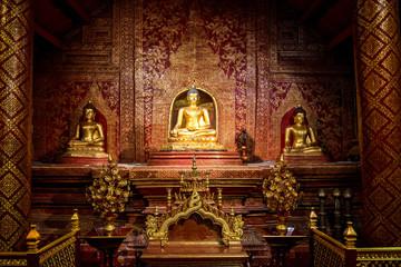 Phra Phuttha Sihing Buddha at Phra Sing Waramahavihan Temple, Th