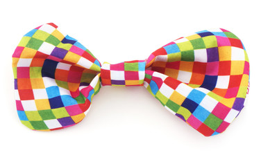 Colorful isolated bow tie on a white background.