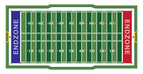 American Football Field Illustration