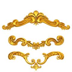 golden cartouches set