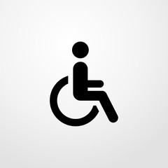man in wheelchair icon. man in wheelchair sign
