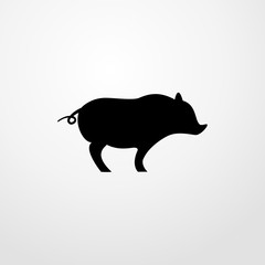 pig icon. pig sign