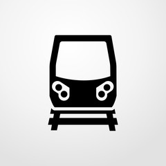 train icon. flat design