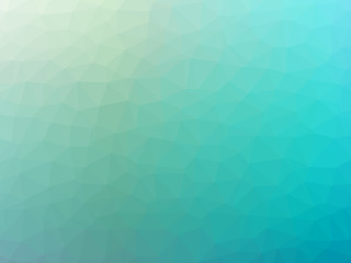 Abstract teal gradient polygon shaped background